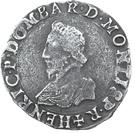 Teston - Henri II. de Montpensier – obverse