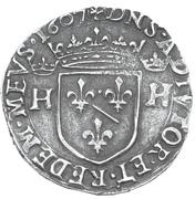 Teston - Henri II. de Montpensier – reverse