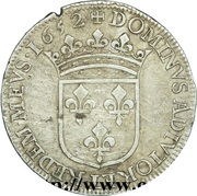 ½ Ecu - Gaston d'Orléans – reverse