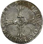 ¼ Ecu - Henri II. de Bourbon-Montpensier – reverse