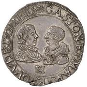 1 Teston - Gaston d'Orléans and Marie de Bourbon-Montpensier – obverse