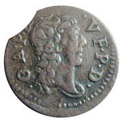 Denier Tournois - Gaston (9th type) – obverse