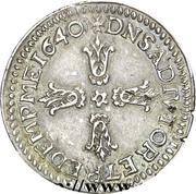 ⅛ Ecu - Gaston d'Orléans – reverse