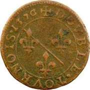 Double Tournois - Louis II (1st type) – reverse