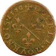 Double Tournois - Louis II. de Bourbon-Montpensier (1st type) – reverse