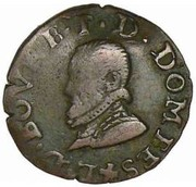 Denier Tournois - Louis II (2nd type) – obverse