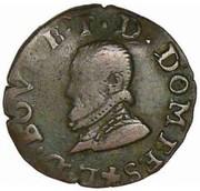 Denier Tournois - Louis II. de Bourbon-Montpensier (2nd type) – obverse