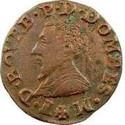 Double Tournois - François II (3rd type) – obverse