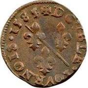 Double Tournois - François II (3rd type) – reverse