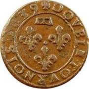 Double Tournois - Gaston d'Orléans (11th type) – reverse