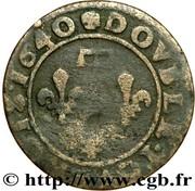 Double Tournois - Gaston d'Orléans (15th type) – reverse