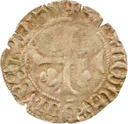 1 Denier - Pierre II. de Bourbon – reverse