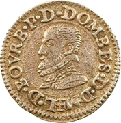 Denier Tournois - Louis II. de Bourbon-Montpensier (Silver pattern strike) – obverse