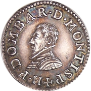 Denier Tournois - Henri II. de Bourbon-Montpensier (Silver pattern strike) – obverse