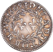 Denier Tournois - Henri II. de Bourbon-Montpensier (Silver pattern strike) – reverse
