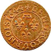 Denier Tournois - Gaston d'Orléans (6th type) – reverse