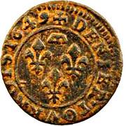 Denier Tournois - Gaston d'Orléans (8th type) – reverse