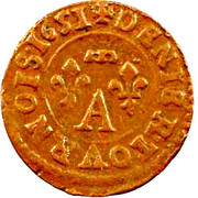 Denier Tournois - Gaston (12th type) – reverse