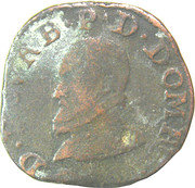 Double Tournois - Louis II (2nd type) – obverse