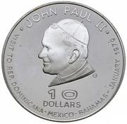 10 Dollars - Elizabeth II (Papal Visit) – reverse
