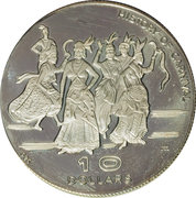 10 Dollars - Elizabeth II (Independence - History of Carnival) – reverse