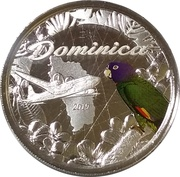 2 Dollars - Elizabeth II (Sisserou Parrot;  Silver Proof Issue, Colored) – reverse