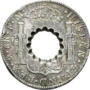 11 Bits (Crenated center hole in Mexico 8 Reales, KM# 108) – reverse
