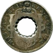 16 Bits (Crenated center hole in Mexico 8 Reales, KM# 109) – reverse