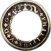 2 Bits (Center hole in Spanish 2 Reales) – obverse