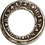 2 Bits (Center hole in Spanish 2 Reales) – reverse