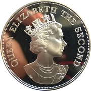 10 Dollars - Elizabeth II (Royal Visit; Silver Proof Issue) – obverse