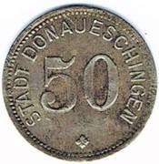 50 Pfennig - Donaueschingen – obverse