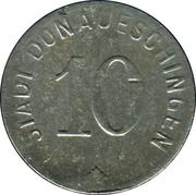 10 Pfennig - Donaueschingen – obverse