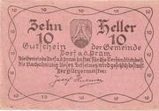 10 Heller (Dorf an der Pram) -  obverse