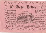 10 Heller (Dorf an der Pram) -  reverse