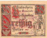 30 Heller (Dorfgastein) – obverse