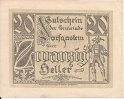 20 Heller (Dorfgastein) – obverse