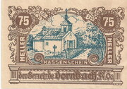 75 Heller (Dornbach) – obverse