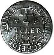 ¼ Stüber - Franz I – reverse
