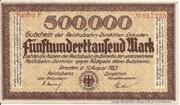500,000 Mark (Reichsbahndirektion) – obverse