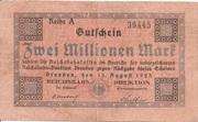 2,000,000 Mark (Reichsbahndirektion) – obverse