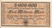 5,000,000 Mark (Reichsbahndirektion) – obverse