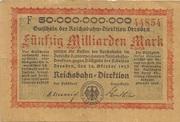 50,000,000,000 Mark (Reichsbahndirektion) – obverse