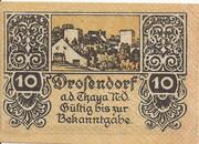 10 Heller (Drosendorf) – obverse