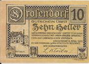 10 Heller (Drosendorf) – reverse