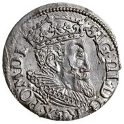 3 Grossus - Sigismund III Vasa (Riga; long and rounded beard) – obverse