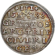 3 Grossus - Sigismund III Vasa (Riga) – reverse