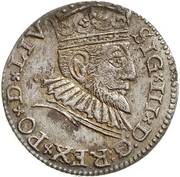 3 Grossus - Sigismund III Vasa (Riga; long and pointed beard) – obverse