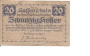 20 Heller (Dunkelstein) -  reverse
