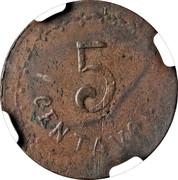 5 Centavos (Estado de Durango) – reverse